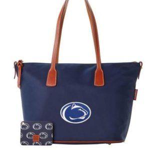NWT Penn State Dooney&Bourke Tote Top Zip Bag